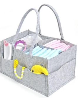 Felt Nappy Organizer Caddy – Grey